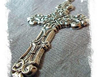 Ornate Silver Ox Cross (x2)