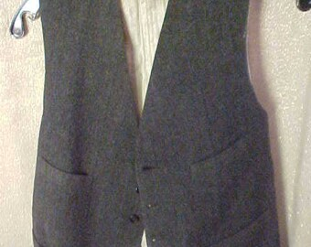Vintage 30s  Mans Old Vest.. Large, Use for Study, , has Hole ,Lining Soiled. #3070