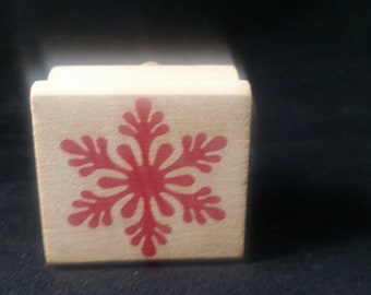 Snowflake Rubber Stamp Used