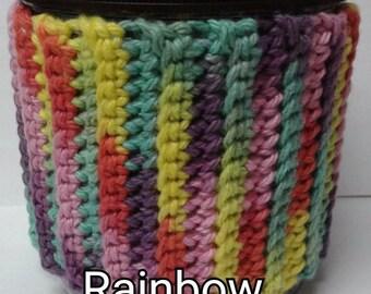 Rainbow Variegated Ice Cream Sweater Cozy