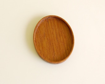 No laser fine finished hardwood bezel tray - Various wood types - 36 x 46 mm cavity - (A1)