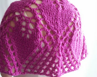 Fuchsia Pink Capelet, Lace Capelet, Bridal capelet, Wedding Capelet, Bridal Cape, Wedding Cape, Gift for Her, Gift for Mum, Birthday Gift