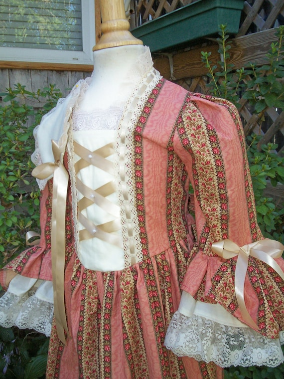 Girls Colonial Ball Gown/ Costume..dress .. Pinner