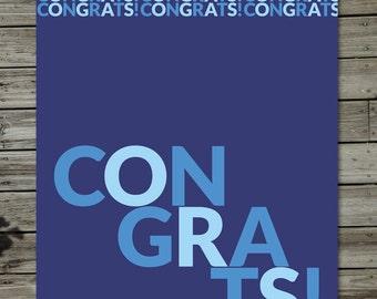 Bold Congratulations Card
