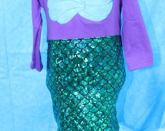 Mermaid costume,Halloween costume,Ariel costume,Purple mermaid,blue iridescent mermaid tail dress,Tropical mermaid costume Halloween