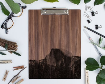 Wood Clipboard | Yosemite Half Dome, National Parks - Wooden Clipboard in WALNUT