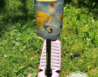 Water bottle holder for bike, Scooter, Pram or stroller, bottle, holder, scooter accessories, Girls, Princesses, Cinderella
