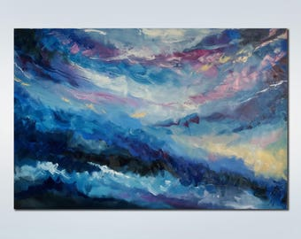 Large Oil Painting Wall Art On Canvas Original art Landscape Painting Texture Oil Painting Abstract Painting