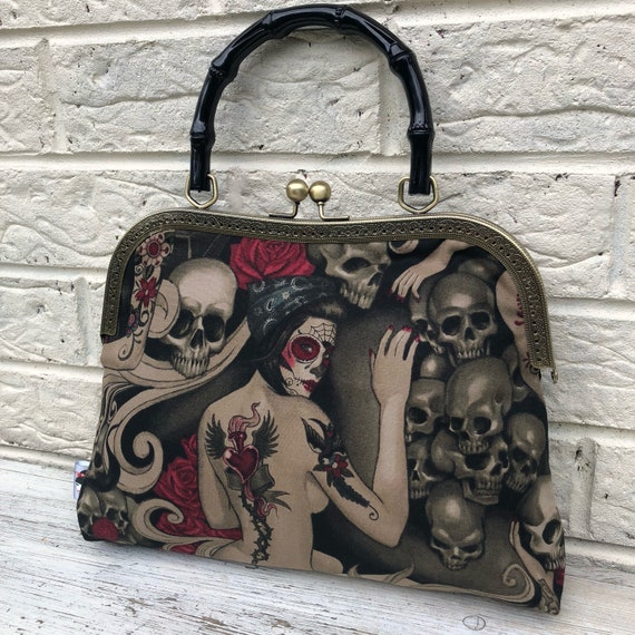 Alexander Henry Tattoo Handbag Rockabilly Pinup 1950's Inspired