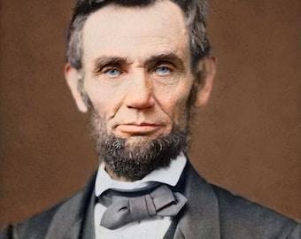 President Abraham Lincoln portrait 1865 # 3