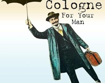 Men's Cologne Aftershave  2 OZ All Natural Large Size