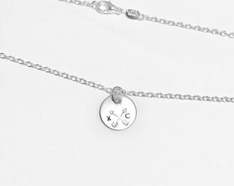 Cross Country Runner  - XC  -  .925 Sterling Silver Necklace