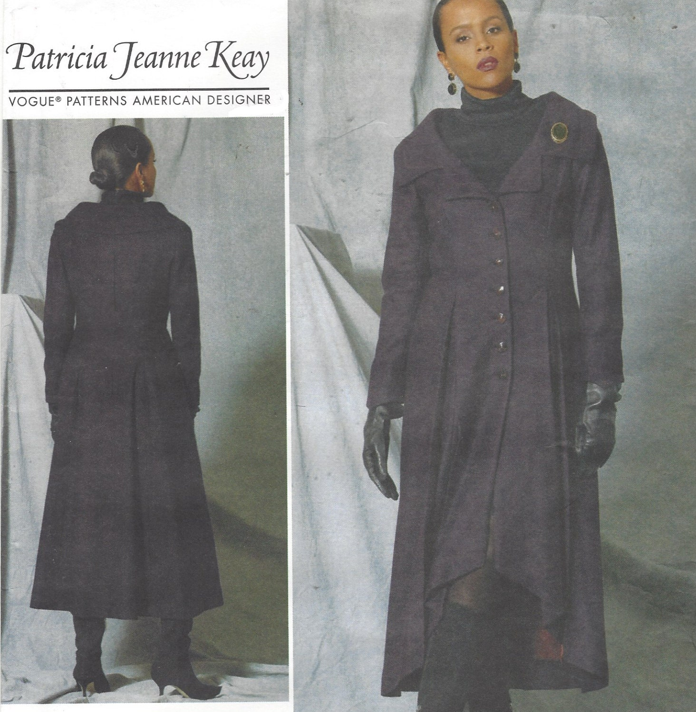 Patricia Jeanne Keay Womens Lagenlook Coat Portrait Collar Vogue ...