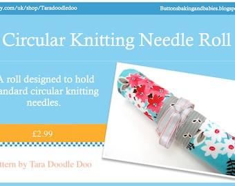 Pattern - Circular Knitting Needle Roll