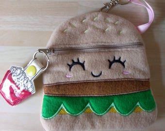 Cheeseburger purse, pouch, bag