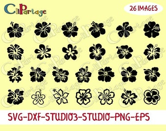 Images SVG, Font Cut files,Digital Image,Hibiscus Images,SVG silohuettes, Decal Svg files for Silhouette, Cricut, Instant digital download