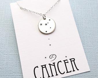 Cancer Jewelry | Cancer Necklace, Zodiac Jewelry, Zodiac Necklace, Constellation Necklace, Astrology Jewelry, Zodiac Sign Necklace, Zodiac