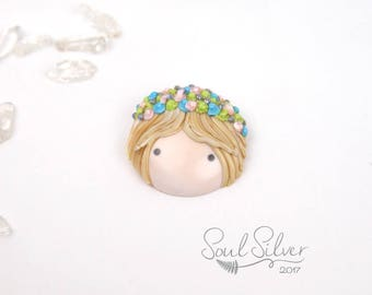 Doll Face Brooch
