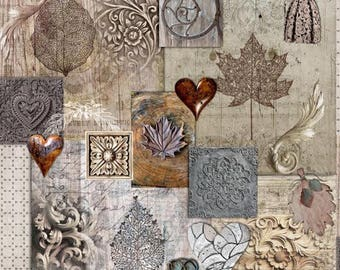 Sandalwood - fabric fabric style retro - vintage style fabric - romantic - shabby chic - 1/2 meter