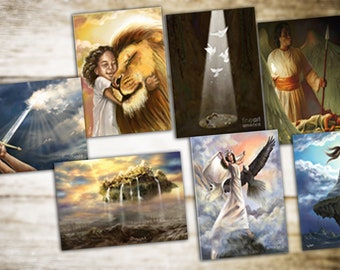 Greeting Cards, Post Cards, 7 Beautiful Prophetic Cards - One Sided Greeting Cards For Encouragement