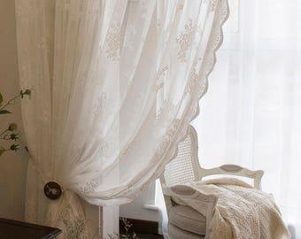 shabby chic curtains etsy rh etsy com shower curtains shabby chic white curtains shabby chic