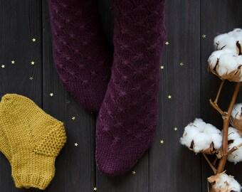 Wool socks Cashmere socks Womens knitted socks Winter socks Hand knit socks Warm socks Leg warmers Soft socks Valentines gift -READY TO SHIP
