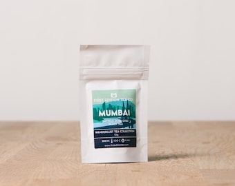 Mumbai Loose Leaf Tea Blend - Smoked Rose Chai Black Tea - 10g bag - Wanderlust Tea Collection - Traveller gift