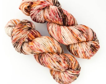 Coffee and Pie Oh My! - Hand Dyed DK Weight Yarn 100% Superwash Merino Wool 246 yds per 100g skein