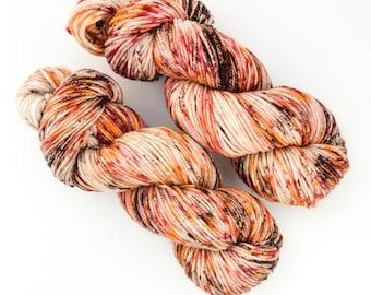 Coffee and Pie Oh My! - Hand Dyed DK Weight Yarn 100% Superwash Merino Wool 246 yds per 100g skein