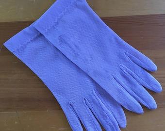 Vintage Lavender Sheer Mesh Wrist Gloves, Size Small