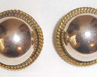 Vintage Mexico 925 Sterling Clip On Earrings Artisan Signed