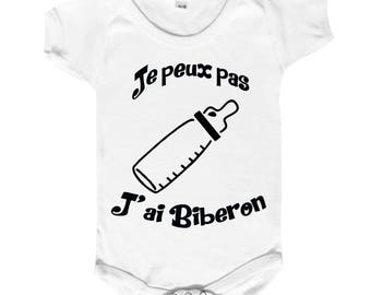 "funny baby Bodysuit ""I can't I bottle"""
