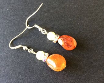 Handmade earrings with vintage stones