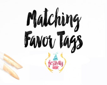 Add-On Coordinating Favor Tags - Digital File