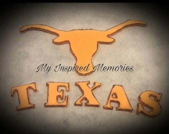 Texas longhorns fondant topper