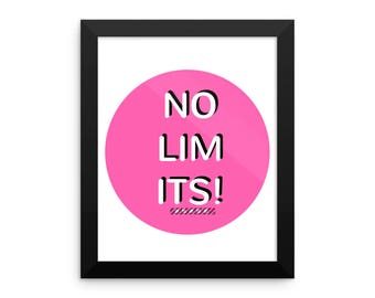 NO LIMITS pink  - Framed photo