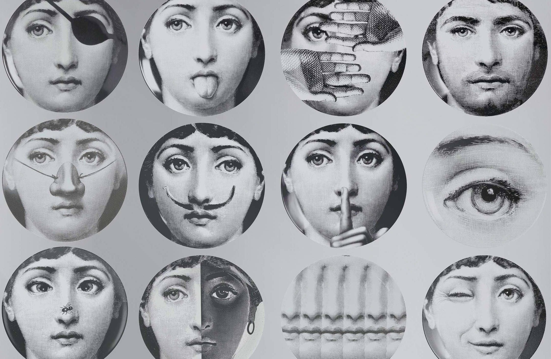Vintage Wallpaper Fornasetti Plates Cole And Son Piero Wall