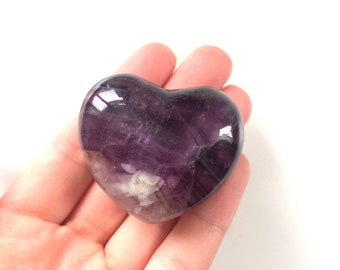 fluorite heart Stone carving 40mm