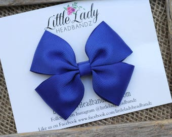 Royal Blue Bow Blue Boutique Bow blue hair bow girls ribbon bow large bow