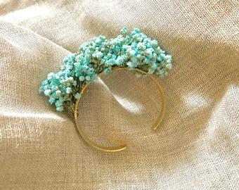 Preserved flowers bracelet