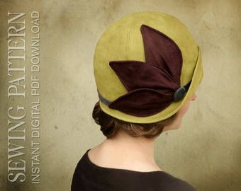 SEWING PATTERN - Lucille, 1920s Twenties Cloche Hat for Child or Adult