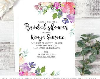 Bridal Shower Invitation Floral II