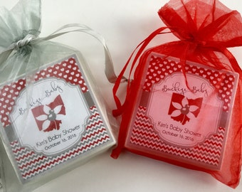 Ohio State baby shower favors, set of 10 soap favors