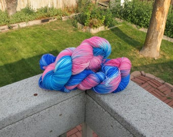 Handdyed Superwash Merino worsted weight yarn