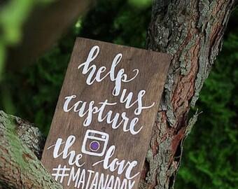 Hashtag Sign, Instagram sign, wedding Instagram sign, Wedding hashtag sign, Instagram wedding sign, social media sign
