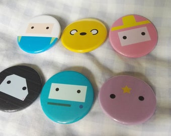 6 Simplistic Adventure Time Badges