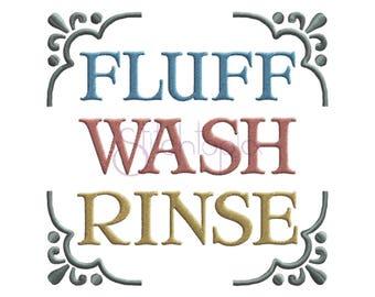 Fluff Wash Rinse Machine Embroidery Digitized Design Pattern