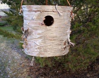 Natural Milled Log Birdhouses