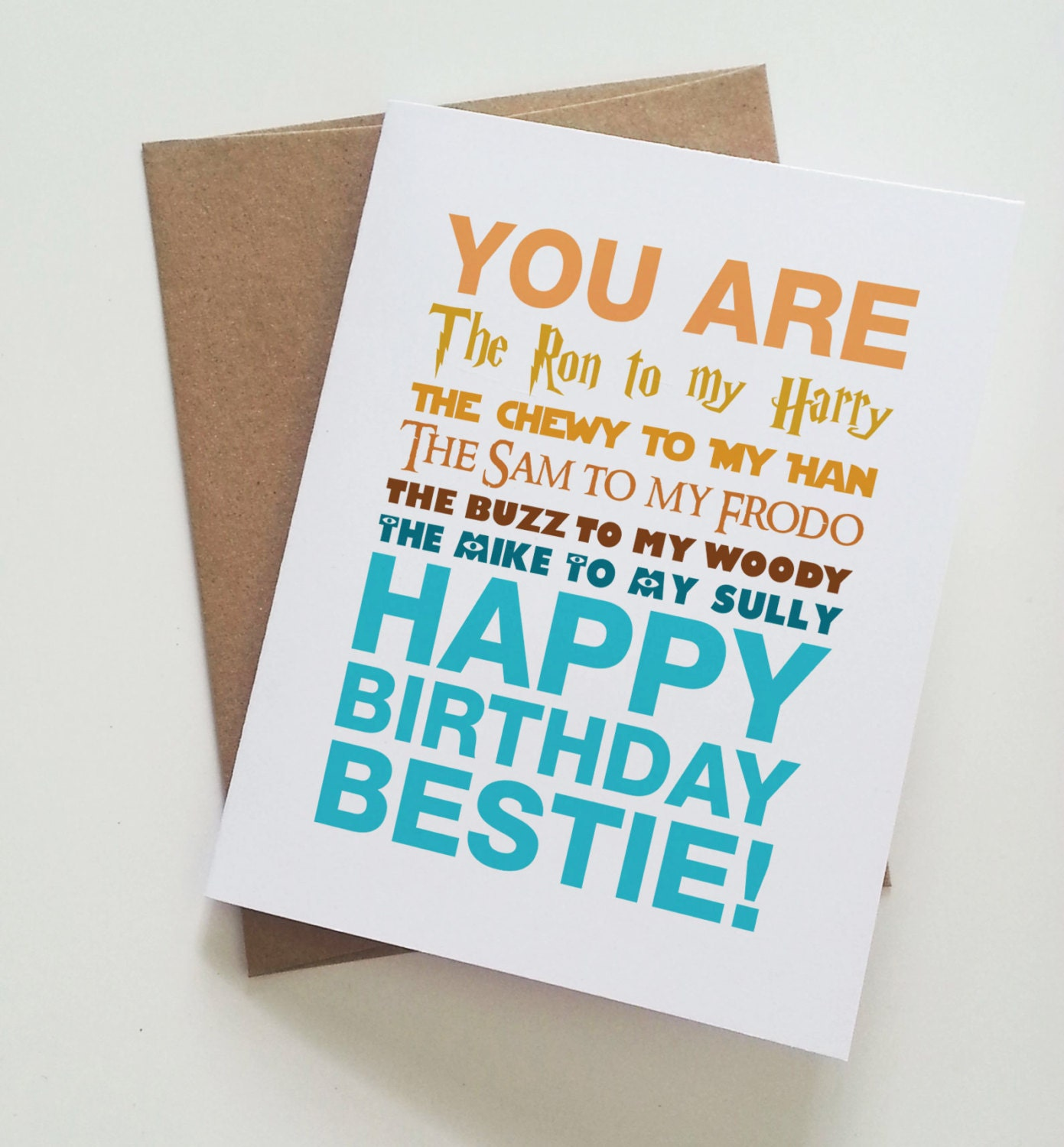 Geeky best friend birthday card harry potter star wars zoom bookmarktalkfo Images