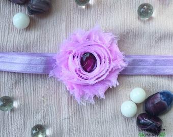 Purple Flower Gem Headband